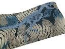 半幅帯 おりびと リバーシブル 浴衣にも カジュアル 恐竜 化石 マリン 黒 ブルー a682r