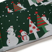 半幅帯クリスマストランプリバーシブル黒に近い深いカーキ色系ライトグレー臙脂f583r