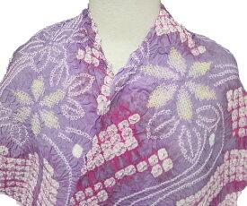 浴衣 反物 有松鳴海絞り 総絞り レディース 新品 仕立て付き 花柄 四角 紫 白 ピンク カジュアル a186