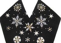 半衿刺繍雪花雪の結晶洗える半衿クリスマス黒j791r