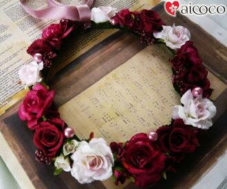 花冠不哭的不可能的purizabudofurawa&高級人造花美人很好看的花冠atifisharufurawadoresu花冠新娘花冠婚禮花冠