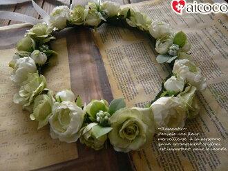 高級的人造花美人很好看的花冠shirukufurawaatifisharufurawadoresu花冠新娘花冠婚禮花冠