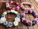 【ヘッドドレス】花冠 20色 桜 バラ 花冠 ウエディング ウェディング 花かんむり ライブ イベント コンサート オレン…