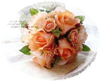 美人公正的小型花束婚禮花束維生素彩色高級人造花花束禮服花束局花束婚禮花束新娘花束海外婚禮
