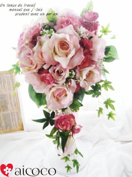 ブーケ/7点セット ウエディングブーケ/ブーケ/ウエディングブーケ+新郎ブートニア セット。可愛いブーケ 誕生日 プレゼント 女性 花束 ウェディングブーケ ホワイト ピンク 結婚式 花かんむり 花冠 造花ブーケ プレゼント 贈り物 誕生日