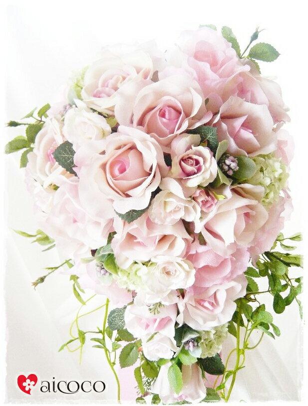 ブーケ/2点セットウエディングブーケ/ブーケ/ウエディングブーケ+新郎ブートニア セット。可愛いブーケ 誕生日 プレゼント 女性 花束 ウェディングブーケ ホワイト ピンク 結婚式 花かんむり 花冠 造花ブーケ プレゼント 贈り物 誕生日