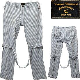 Vivienne Westwood Anglomania Bondage Trousers ヴィヴィアン ウエストウッド ボンテージ(ボンデージ ボンデッジ) パンツ【中古】【パンク】【PUNK】【ロマンチックノイローゼ 楽天市場店】