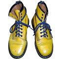 Dr.Martens英国製ドクターマーチン8EYEBOOTSYELLOW8ホールブーツイエロー黄×紐ネイビー