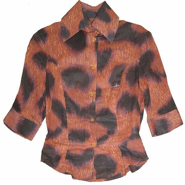 Vivienne Westwood Leopard Blouse ヴィヴィアン ウエストウッド 豹柄・レオパード ブラウス シャツ トップス【中古】【RCP】【ロマンチックノイローゼ 楽天市場店】