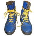 Dr.Martens英国製ドクターマーチン10EYEBOOTSBLUE10ホールブーツブルー(青)×紐イエロー(黄色)