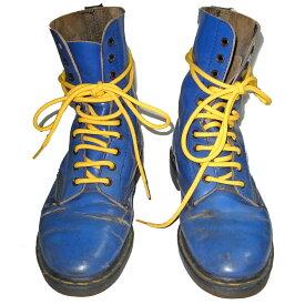 Dr.Martens 英国製 ドクターマーチン 10EYE BOOTS BLUE 10ホール ブーツ ブルー(青)×紐イエロー(黄色) 【中古】【RCP】【ロマンチックノイローゼ 楽天市場店】