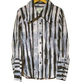 Vivienne Westwood Anglomania Anarchy Stripe Shirt ヴィヴィアン ウエストウッド アングロマニア アナーキー ストライプ シャツ【中古】【パンク】【PUNK】【ロマンチックノイローゼ 楽天市場店】