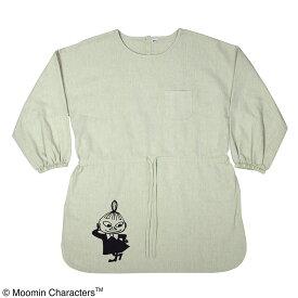 ムーミン スモック エプロン リトルミイ カーキ M-L ST-IM0028 本州送料540円 エプロン  ナースグッズ、看護師、医師、介護士、保育士、幼稚園、キャラクター
