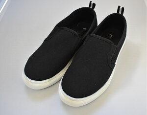はっ水スリッポンシューズ レディス靴 はっ水・スニーカー・通勤・ナースシューズ・スニーカーデー・ブラック・MーLL