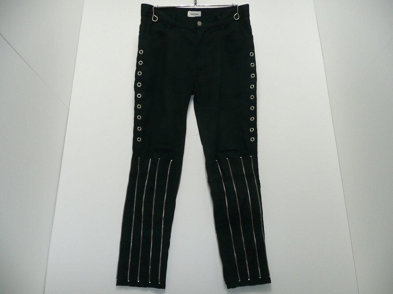 UNDERCOVERISM アンダーカバーイズム ボンテージパンツ ブラック サイズ:1 パンツ メンズ 黒 アンダーカバー H4516-1  【中古】【ドメスティック】【金沢本店 併売品】【6500232Kz】