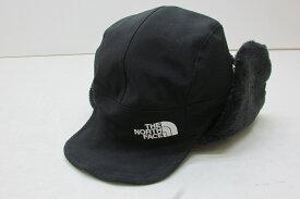 THE NORTH FACE ノースフェイス Expedition Cap エクスペディションキャップ フライトキャップ SIZE:M ブラック 黒 ロゴ ボア フリース NN41917 ビーニー 帽子 タグ付き 【中古】【帽子】【金沢本店 専売品】【7400551Kz】