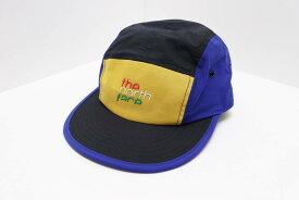 THE NORTH FACE ノースフェイス FIVE PANEL CAP 5パネル キャンプキャップ NN01825 SIZE:F イエロー ブルー ブラック ロゴ ナイロン 帽子 【中古】【帽子】【金沢本店 併売品】【7400536Kz】