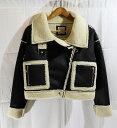 JUEMI ジュエミ 18AW Short Mouton Jacket ショートムートンジャケット ライダースボアジャケット SIZE:F ブラック コート アウター レ…