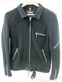 【更に値下げ】 GOODENOUGH グッドイナフ ウールライダースジャケット size:2 シングル ボールチェーン JKT アウター