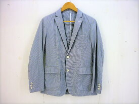 UNIFORMEXPERIMENT ストライプセットアップスーツ size:JACKET:1 PANTS:2 ユニフォームエクスペリメント 2つ釦