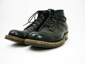 値下げしました WHITE'S BOOTS 714 セミドレス レースアップワークブーツ ブラック size:9 1/2 E ホワイツブーツ