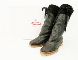 Vivienne Westwood LEATHER BOOTS size:38 ヴィヴィアンウエストウッド レザーブーツ 本革 靴 シューズ ブラック 17-01-952003 日本製 Made in Japan
