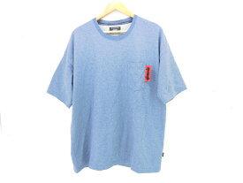 glamb S/S Nixon Tee size:3 グラム ニクソン 半袖Tシャツ カットソー ポケット 刺繍 ブルー GB0118/CS14