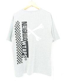 WTAPS × NEIGHBORHOOD 19AW RIPPER SS Tee size:L ダブルタップス ネイバーフッド クロスボーン 半袖Tシャツ グレー 192ATNHD-CSM01S