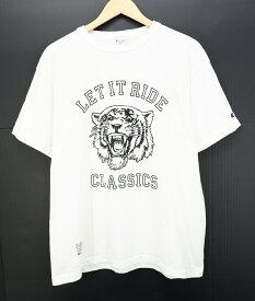 Champion × LET IT RIDE S/S PRINT Tee size:L チャンピオン レットイットライド 別注 プリント 半袖Tシャツ ライオン ホワイト ヘインズブランズジャパン