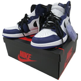 【中古】NIKE AIR JORDAN 1RETRO HIGH OG555088-500 Size:26.5cm COURT PURPLE 未使用品