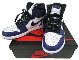 【中古】NIKE AIR JORDAN 1RETRO HIGH OG555088-500 Size:26.5cm COURT RURPLE 未使用品