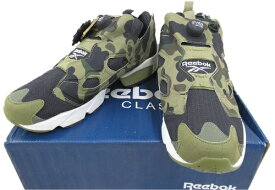 【中古】Reebok×A BATHING APE×MITA SNEAKERSINSTA PUMP FURY OG V61765サル迷彩 SIZE:27cm 未使用品