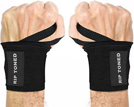 Wrist Wraps by Rip Toned - 18インチ Professional Grade With Thumb Loops - Wrist Support Braces for Men & Women