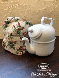 ティーポット カバー ティーコゼー 赤・花柄 ティーコージー ハンドメイド おしゃれ かわいい おすすめ 紅茶 冷めない 保温 人気 アフタヌーンティー