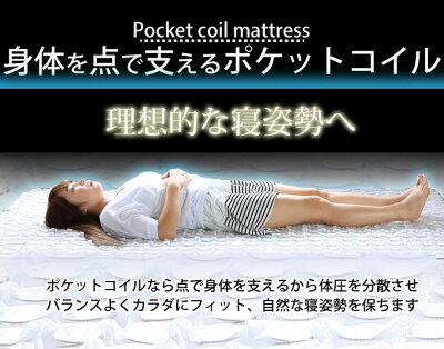 マットレスポケットコイルスプリングマットレスクイーン商品名:NEWエクセレントコンプリートポケットコイルマットレス