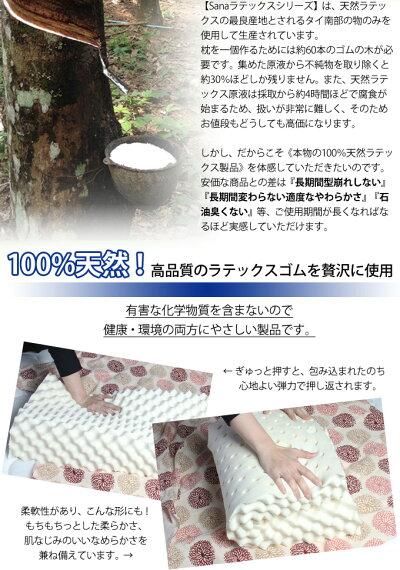 【タイ産天然ラテックス100%使用】寝心地が違う!もっちり弾力・高反発の抗菌まくら!