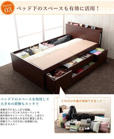 ベッド下のスペースも有効に活用