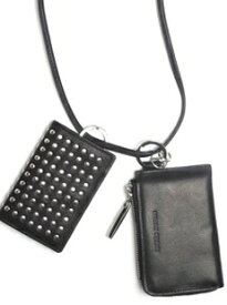 PATRICK STEPHAN パトリックステファン スタッズ カウハイド ネックウォレット 183AWA15 Leather Leather wallet & card case 'empty-handed' (r−r194)