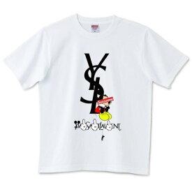 Sux x xme x Laxxxnt デザインTシャツ メンズ レディース Tシャツ イヴ・サンローラン ミッキー パロディ 半袖  おもしろTシャツ オーバーサイズ 誕生日 ギフト プレゼント ペアルック