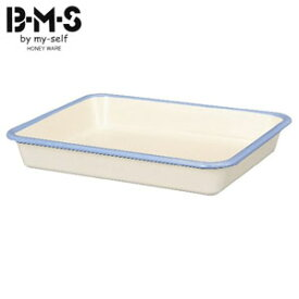 富士ホーロー B-M-S ビームス ホーローバット LL(15取) BM-LL W ホワイト