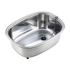 アーネスト 脚付ステンレス洗い桶(中栓付き) A-75435