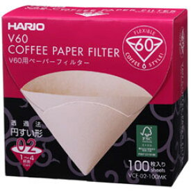 HARIO ハリオ V60用ペーパーフィルターM 100枚個箱入り VCF-02-100MK (1〜4杯用)