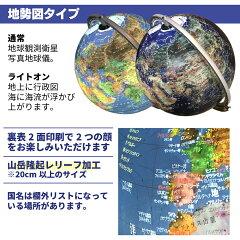 ARしゃべる地球儀は二種類。衛星写真、地勢図タイプ