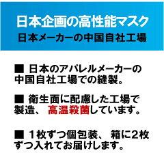 日本企画・高温殺菌済の立体縫製の高機能、洗えるマスク
