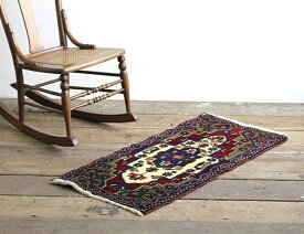 【ヴィンテージラグ】 Turkish Carpet オールド トルコ絨毯 No.11