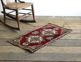 【ヴィンテージラグ】【中古】 Turkish Carpet オールド トルコ絨毯 No.13