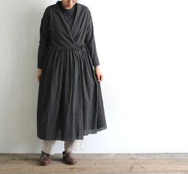 evam eva エヴァムエヴァ ギャザーローブ gather robe E201T113