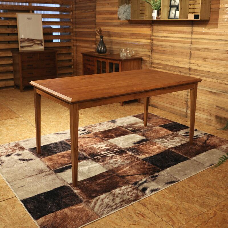 BELCO ベルコ ダイニングテーブルカラー| チーク レッドブラウン色サイズ| 幅 150 奥行80 高さ72cm北欧テイスト ウレタン塗装