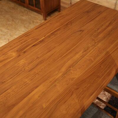 BELCOベルコダイニングテーブルカラー|チークレッドブラウン色サイズ|幅150奥行80高さ72cm北欧テイストウレタン塗装