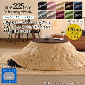 商品名| 手洗いOKラフンネル素材の丸形コタツ布団セットFEN     (掛け布団/ふっくらボリュームタイプ) カラー| 10色対応サイズ| 直径225 cm (円形)主素材| ポリエステル100%※こたつ本体は付属しておりません。